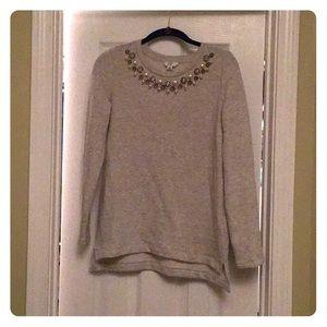 Crown & Ivy XS beaded neckline sweater